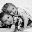 Little brother and Sister in studio — Stock Photo #53162213