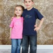 Little brother and Sister in studio — Stock Photo #53162241