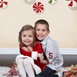 Happy girl with brother — Stock Photo #53162249