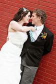 Bride and Groom on wedding Day — Stock Photo