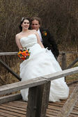 Wedding Couple on there wedding day — 图库照片