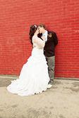 Wedding Couple on there wedding day — Stock Photo