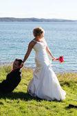 Wedding - Bride and Groom — Stock Photo