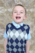 Cute little baby boy posing — Stock Photo