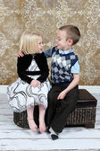 Adorable little brother and Sister — Stock Photo