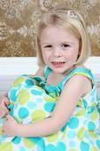 Beautiful Little Girl Posing in Studio — Stock Photo