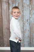 Cute little boy posing — Stock Photo