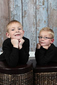 Two Cute little boys posing — Stock Photo