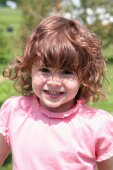 Little Girl with red hair — Stock Photo