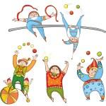 Jugglers Set — Stock Vector #65386839