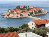 Respectable Resort Island Of Sveti Stefan — Stock Photo