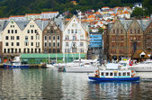Famous Bergen historical buildings  — Stock Photo