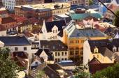 Aerial view of Bergen downtown, Norway — Stock Photo