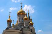 Golden domes of Orthodox Cathedral  — Stock Photo