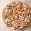 Christmas Ginger and Honey cookies on plate — Stock Photo #61976769