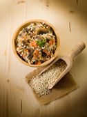 Barley risotto with mushrooms and carrot — Stock Photo