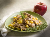 Veal stew with apple and rosemary — Stock Photo