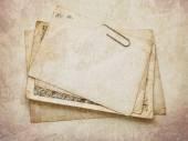 Carte papier Vintage sur la texture en bois — Photo