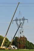 Electrical Top Changing with Two Cranes — Photo