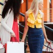 Two happy young fashion women with shopping bags — Stock Photo #52251545