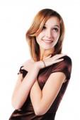 Mutlu genç moda kadın — Stok fotoğraf