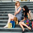 Two young fashion women with shopping bags — Stock Photo #58163765