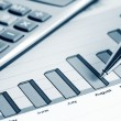 Financial accounting graphs and charts — Stock Photo #62918697