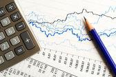 Financial accounting graphs and charts — Stock Photo