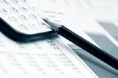 Des graphiques de la comptabilité financière — Photo