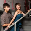 Young couple flirting in office — Stock Photo #68524183