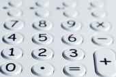 Closeup of calculator keypad — Stock Photo