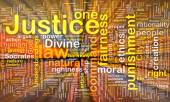 Justice background concept wordcloud glowing — Stock Photo
