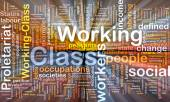Working class background wordcloud concept illustration glowing — Stock Photo