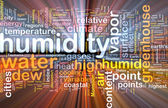 Humidity  background wordcloud concept illustration glowing — Stock Photo