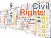 Civil rights wordcloud concept illustration — Stock Photo