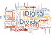 Digital divide wordcloud concept illustration — Stock Photo