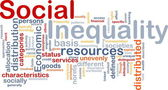 Social inequality wordcloud concept illustration — Stock Photo