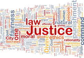 Justice background concept wordcloud — Stock Photo
