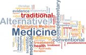 Alternative medicine wordcloud concept illustration — Stock Photo