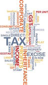 Tax wordcloud concept illustration — Stock Photo