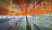 Carbohydrate wordcloud concept illustration glowing — Stock Photo