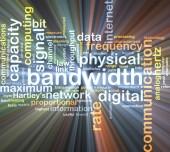 Bandwidth wordcloud concept illustration glowing — Stock Photo