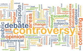 Controversy wordcloud concept illustration — Stock Photo