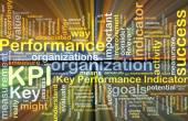 KPI wordcloud concept illustration glowing — Stock Photo