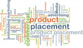 Product placement wordcloud concept illustration — Stock Photo