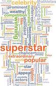 Superstar wordcloud concept illustration — Stock Photo