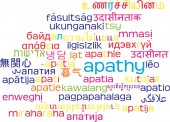 Apathy multilanguage wordcloud background concept — Stock Photo