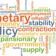 Monetary policy wordcloud concept illustration — Стоковое фото #70688103