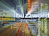 Buzzword wordcloud concept illustration glowing — Stock Photo