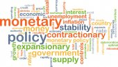 Monetary policy wordcloud concept illustration — Stock Photo
